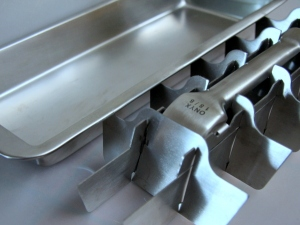 Stainless Steel Ice Cube tray: 2 parts